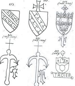 Первые водяные знаки Франции
